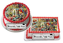Spiderman Cake Topper Spiderman Cake Strips Spiderman Edible