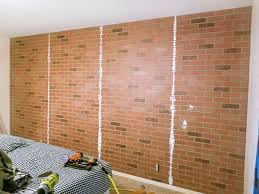 faux brick wall with german schmear