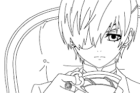 line art ciel 2 by prince zephyrion on deviantart in black butler coloring s 0 19