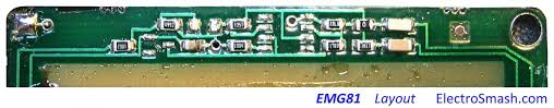 electrosmash emg81 pickup analysis the schematic is hard to trace since it is totally encapsulated in epoxy in the baseplate of the emg81 the circuit is implemented using a single layer pcb