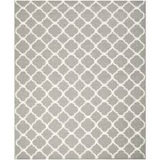 safavieh dhurries grey contemporary rug 6 x 9