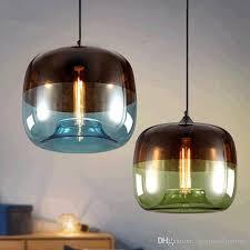 green glass pendant lighting. Modern Fresh Blue And Green Color Glass Pendant Lights E27 Lamp Holder Lustre Para Salon Hanging Light Fixture For Dinning Room Bedroom Beaded Chandelier Lighting
