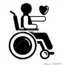車椅子 車イス 車いす シンプルのイラスト素材 Pixta