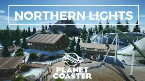 Northern Lights Motel Planet Coaster Northern Lights Day Night Pov