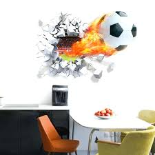 wall stickers and decals soccer wall decal soccer ball football wall  sticker decal kids bedroom home