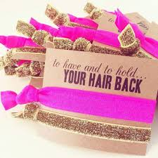 bachelorette hair tie favor to have and to hold your hair back