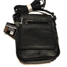 black concealed carry purse compact cross 7018