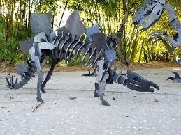 outdoor metal art metal stegosaurus stegosaurus yard art ready to ship metal puzzle sculpture park gift