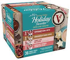 Victor allen coffee variety pack flavored & unflavored, 96 count. Victor Allen Coffee Holiday Favorites Coffee Cocoa Mix 36 Count Compatible With 2 0 Keurig Brewers Amazon Com Grocery Gourmet Food