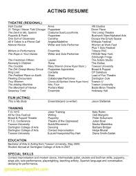 Professional Theatre Resumes Copy Of A Resume Best Of Professional Acting Resume Unique Resume