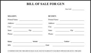 bill of sales template bill of sale for guns happywinner co