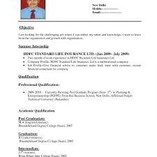 Outstanding Standard Resume Format For Freshers Doc Model