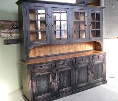 rustic china cabinet with glass doors tedxumkc decoration intended for large kitchen hutch