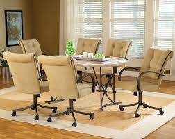 3 caster dining room chairs rolling dining room chairs