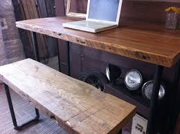 custom made office desks. Industrial Wood Desk Strong Custom Made Salvaged Office Desks H