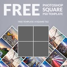 Template For Picture Collage Free Photoshop Template Photo Collage Square Download Now