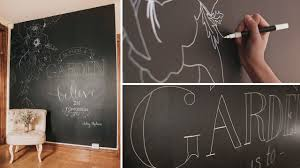 how to temporary chalkboard wall hand lettered quote