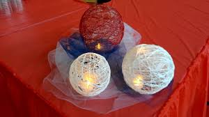 homemade yarn lanterns