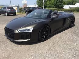 audi r8 convertible matte black.  Black Audi R8 4S Spyder Folder Black Matt Gold Dust 2 Car Wrapping Kuhnert  With Convertible Matte Black E