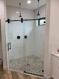 galileo barn style slider bathroom