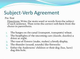Ppt Subject Verb Agreement Powerpoint Presentation Id 2808185