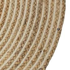 jute round rug 90cm 3 of 6 fair trade round beige natural jute cotton braided rug lounge study jute round rug 90cm