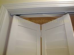 Backyards : How Install Fold Closet Door To Knobs Trim Finger ...