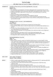 Reporting Analyst Resume Sample Senior Reporting Analyst Resume Samples Velvet Jobs 7