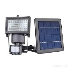 60 led solar floodlight outdoor wall lamps garden lighting led flood security garden projecting landscape lawn light with motion senso with