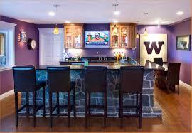 modern favorable basement bar decor wall sports lovable sports bar with cool basement bar decor