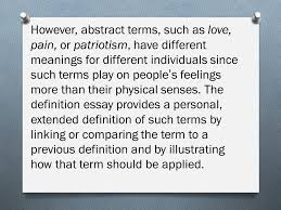 ap lang and comp ms bugasch goals compare  however abstract terms such as love pain or patriotism have different