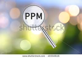 ppm stock photos royalty images vectors shutterstock magnifying lens over background text ppm the blurred lights visible in the background
