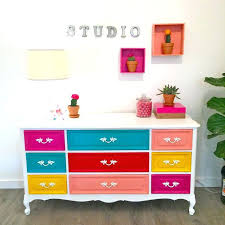 colorful painted furniture. Bright Colored Dresser Painted Dressers Colorful Furniture