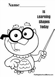Small Picture Simple Shapes Coloring Pages Archives Page I Used This In