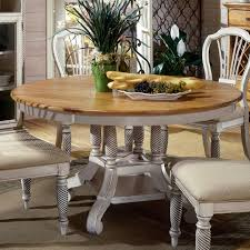 Hillsdale Dining Table Wilshire Round Two Tone Leaf Dining Table Rotmans Dining