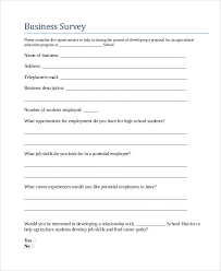 Printable Survey Forms Impressive 48 Sample Survey Forms In PDF Sample Templates