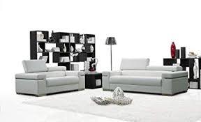white leather sofa sets. Delighful White Ju0026M Furniture Soho White Leather Sofa U0026 Loveseat With Adjustable Headrests   To Sets S