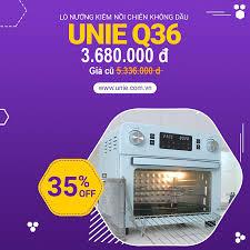 Lò nướng kiêm nồi chiên không dầu Unie Q36 25L (Dòng cơ kết hợp cảm ứng điện  tử, màn hình nét thông minh cao cấp), Giá tháng 10/2020