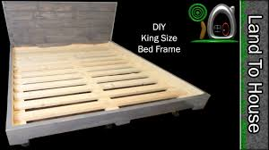 DIY King Size Bed Frame - YouTube