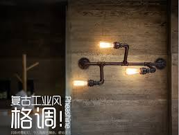 water pipe edison wall lamp rh american country loft style vintage industrial wall light fixtures for american country loft style