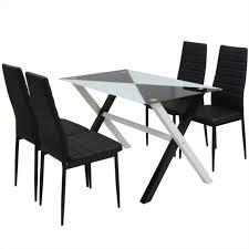 5 Pcs Ensemble Table Et Chaises De Salle à Manger De 4 à 6 Personnes