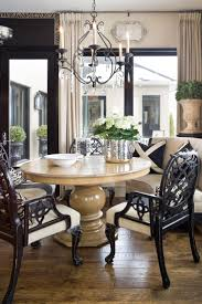 image of contemporary curved dining bench dining table with banquette seating