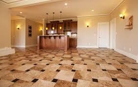 basement floor tile ideas excellent basement remodel with new bar and ceramic tile floor decor