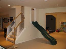 Slide right on into the playroom O maybe a bigger slide for us