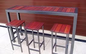 chairs round garden behind outdoor rattan small set craftsma bar furniturebar wooden table pub bunnings high