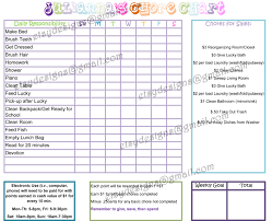 Printable Shower Chart Chore Charts Teaching Responsibilities And Be Smart With