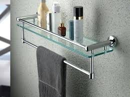 Towel rack with shelf Vertical Towel Bar Shelf Classy Ideas Bathroom With Rack Charming Design Brushed Nickel Glass Shelves For Area Candiceloperinfo Decoration Towel Bar Shelf Classy Ideas Bathroom With Rack Charming