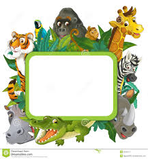 jungle animals border clipart. Plain Animals Throughout Jungle Animals Border Clipart