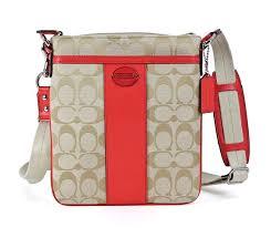 Buy Coach Legacy Signature Swingpack Crossbody Bag 48452 Khaki Bright Coral  in Cheap Price on Alibaba.com
