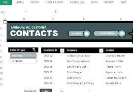 Cute Contact List Template Access Address Book Template Excel Phone List Cute Contact